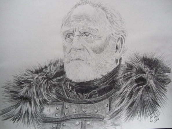 Lord Commander Jeor Mormont  He gave up his lands to serve the Night's Watch.