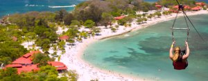 Zip Lining in Haiti