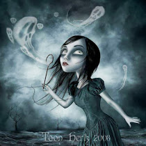 goth girl  with ghost