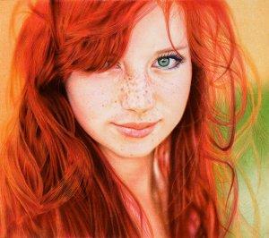 Vashti Quiroz-Vega's Blog_redhead_girl___ballpoint_pen_by_vianaarts-d5531ab