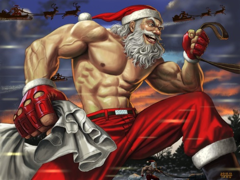 Muscle Santa Claus by _JULIANNA_