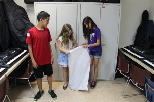 The 3 little actors that performed The Basement skit from the 'Weapons' Chapter.