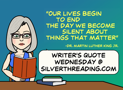 Writer's Quote Wednesday-Silver Threading-Vashti Q