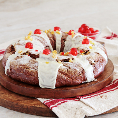 Rosca de Reyes-Three Kings Day-ring cake