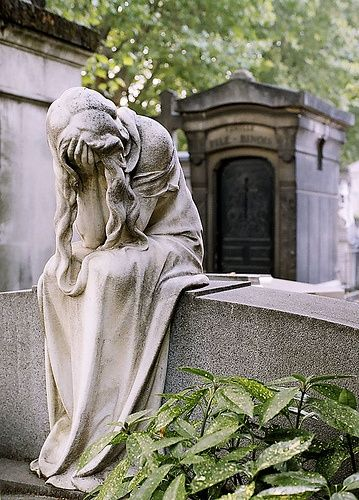 The Writer Next Door-Haiku-Friday-Poetry-statue-cemetery