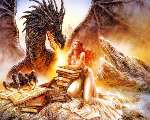 Luis_royo_dragon_girl_books_the fall of lilith_fantasy angels series_novel_Vashti Quiroz Vega