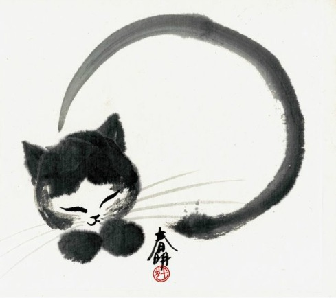 Zen-Poetry-Buddhism-enso cat-Tsun Ming-Haiku_Friday-tanka-Vashti Quiroz Vega-VashtiQ-The Writer Next Door-poem