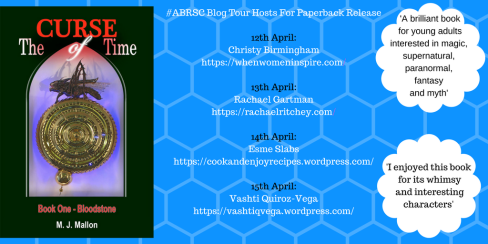 blog_tour-The Curse of Time-novel-M J Mallon-author-book-paperback-Vashti Q-The Writer Next Door-Vashti Quiroz Vega